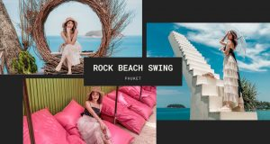 Rock Beach Swing, the new attractions in 2020 with A lot of great spots to photograph.